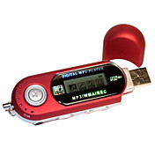 USB Style MP3 Player with LCD Screen (1GB, Red)