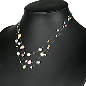 Elegant Multi-color Pearl Necklace