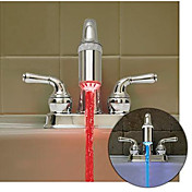 Heat Sensitive Color Changing Kitchen Faucet Light (Plastic, Chrome Finish)
