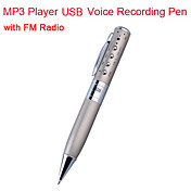 Mp3 player 4gb usb penna di registrazione vocale, radio FM (kly104)