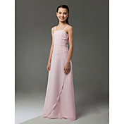 A-line Spaghetti Straps Floor-length Chiffon Junior Bridesmaid Dress