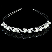 Gorgeous Clear Crystals And Imitation Pearls Bridal Tiara/ Headpiece