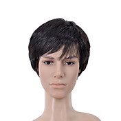Short Straight Black Side Bang Men Hair Wig