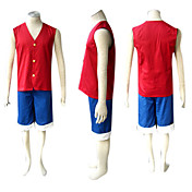 traje cosplay inspirado por um pedao luffy