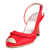 Top Quality Satin Upper High Heel Sandals Fashion Shoes