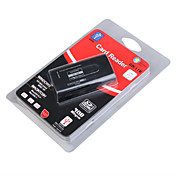 All-in-One Mini USB 2.0 MS/MS Pro/MS Duo/T-Flash/SDHC/SD/MMC Card Reader (Black)