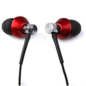 Metallic Finish Noise Cancelling Earphone - Red