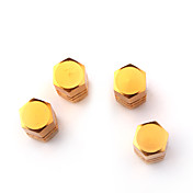 Luxury Tire Valves Caps/Stems - Golden(4 Pieces Per Pack)