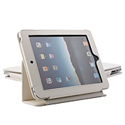 Protective Hard PU Leather Case + Stand for Apple iPad (White)