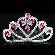 lega con fioraia nozze strass tiara / copricapo