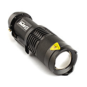 FX SK68 2-Mode CREE XR-E Q5 LED Flashlight (210LM, 1xAA/1x14500, Black)
