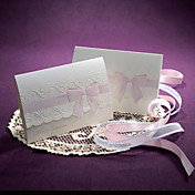 Pink Ribbon Embossed Wedding Invitation (Set of 50)