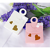 Double Heart Cutout Favor Bag With Bow (Set of 12)