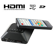 HD mini multi-media player TV, tukee usb, sd-kortti ja hdd, HDMI-lähtö