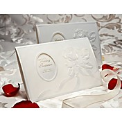 Elegant Embossed Rose Design Tri-fold Wedding Invitation (Set of 50)
