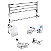 5-Pieces Bathroom Hardware Accessory Set Chrome Finish