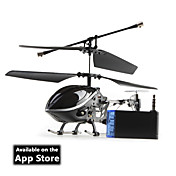 3 canais i-helicptero 777-170 com giroscpio controlado por iphone / capas / itouch ipod (preto)