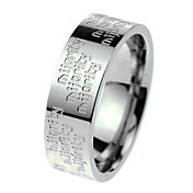 Women's Silver Titanium Steel Ring