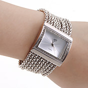 Women's PC Movement Silver Band White Dial Bracelet Watch with Czechic Diamond Decoration