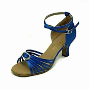 Performance Satin Upper With Crystal Latin Dance Shoes More Colors