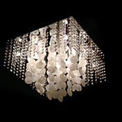 Modern Crystal Semi Flush Mount with 9 Lights in Square