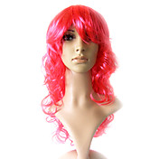 Capless Long 100% Kasi Fiber Light Pink Costume Party Wig