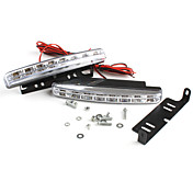 Universal 8-LED Daytime Running Fog Lights for Car (White light, Pair)