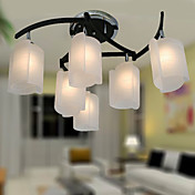 Modern Chandelier with 6 Lights in Warm Light
