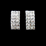 fantastiske rhinestones med sølv / alu plating brude earrings