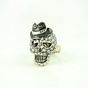 Skull Ring – Rhinestones In Alloy