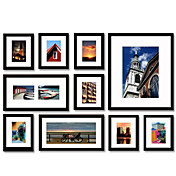 Black Photo Wall Frame Collection - Set of 10