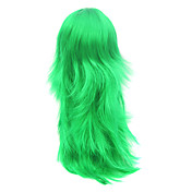 Capless Long Green Synthetic Hair Wig