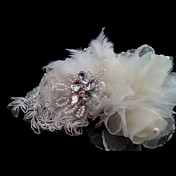 Gorgeous Satin With Rhinestone Wedding Bridal Flowers/ Headpiece