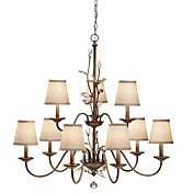 Lmpara Chandelier de Cristal con 9 Bombillas - NAUGATUCK