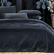 Solid Navy 3-piece Full / Queen / King Duvet Cover Set