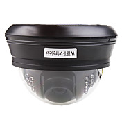 trådløse IP dome kamera (nightvision, motion detection, 22 IR LED)