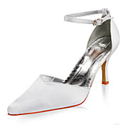 Top Quality Satin Upper High Heel Closed-toes With Wedding Bridal Shoes