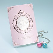 Royal Style Tri-fold Wedding Invitation In Pink (Set of 50)