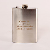 Personalized Stainless Steel 8-oz Flask