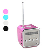 Mini Cube Digital FM Radio Speaker (MicroSD Reader, USB, FM Radio, Assorted Colors)