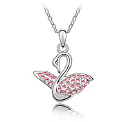 45-cm Swan Princess Austrian Crystal Necklace
