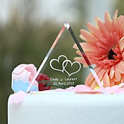 Personalized Crystal Triangle Wedding Cake Topper