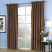 (Two Panels) Pray Embossed Blackout Thermal Curtains