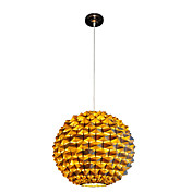 Golden Pendant Light with 1 Light in Ball Shape