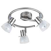 semi flush mount med 3 lys - nedad