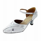 Customized Leatherette And Sparkling Glitter Dance Performance Shoes (More Colors)
