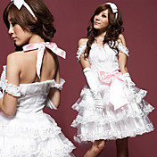 Princess Series White Lace Polyester Costume (3 Pieces)