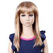 Capless Long Top Grade Synthetic Elegant Straight Children's Wig-2 Colors Available