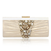 Velvet With Acrylic Jewels Evening Handbag/Clutch (More Colors)