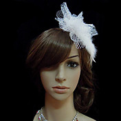 White Feather Wedding Bridal Headpiece